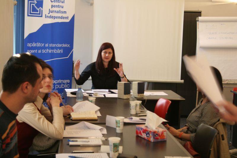 Curs de dictie la Centrul pentru Jurnalism Independent