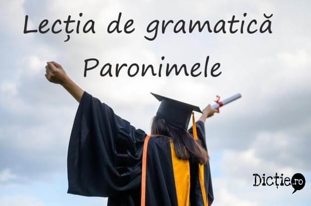 Lecția de gramatică: paronimele