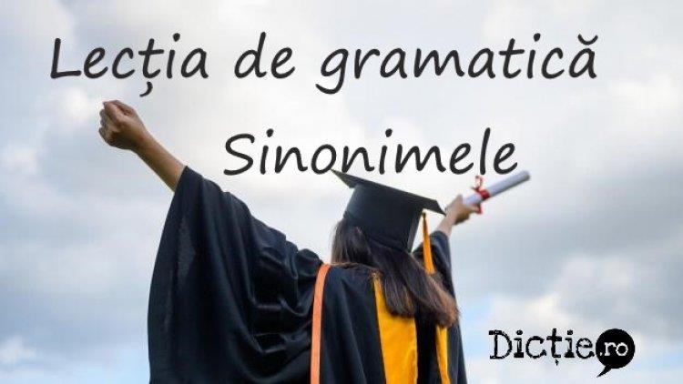 Lecția de gramatică: sinonimele