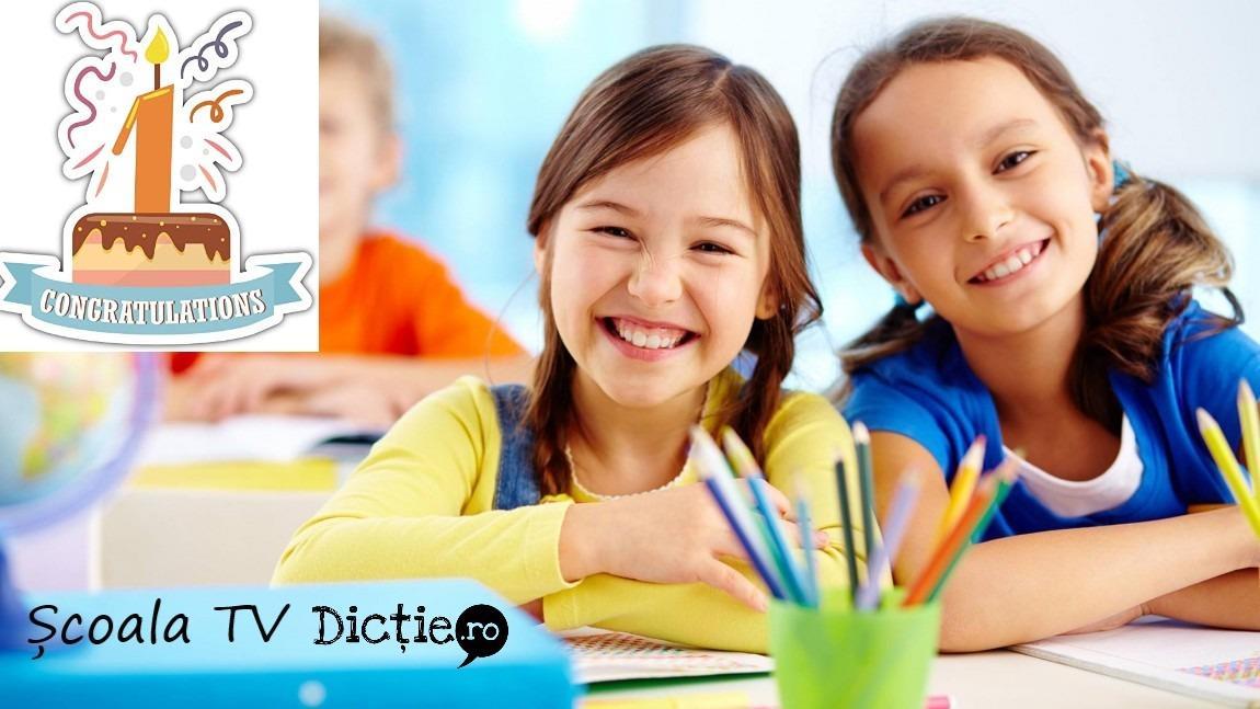 Școala TV pentru copii Dicție.ro a împlinit un an
