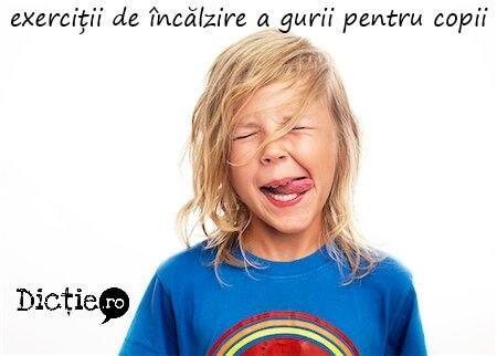 Exerciții de încălzire a gurii pentru copii – logopedie