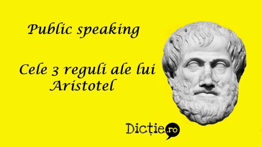 Public speaking: cele 3 reguli ale lui Aristotel
