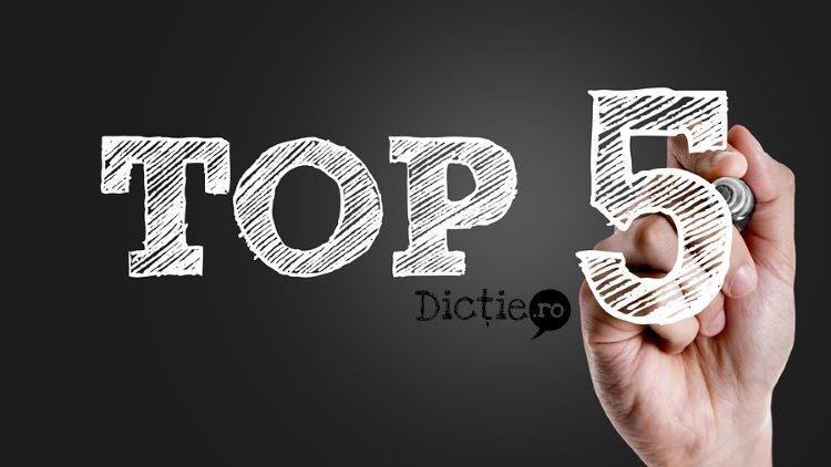 Top 5 cuvinte accentuate greșit