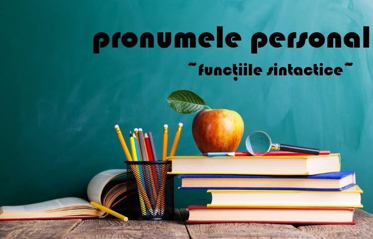Funcțiile sintactice ale pronumelui personal