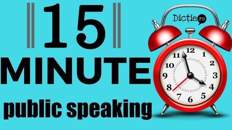 Public-speaking: cele 15 minute de dinaintea unei prezentări