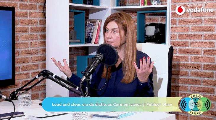 Lansăm Loud&Clear – primul podcast de dicţie din România! Vezi Ora de dicţie, cu Carmen Ivanov şi Petrişor Obae